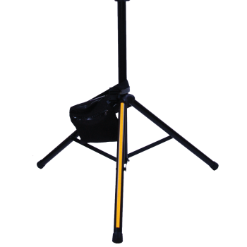 saddle style sandbag weight strapped to tripod stand adds stability
