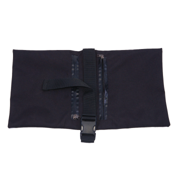 Saddle style sandbag weight with fastener strap for tripod
